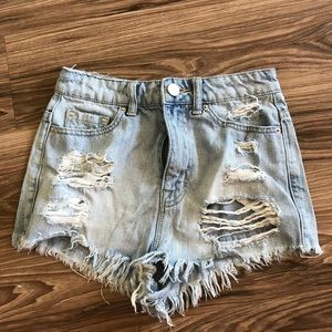 BDG denim shorts from urban outfitters!